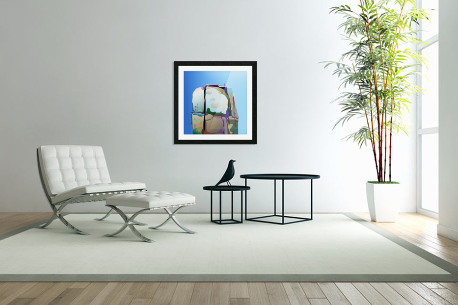 Man on Mountain in Custom Picture Frame