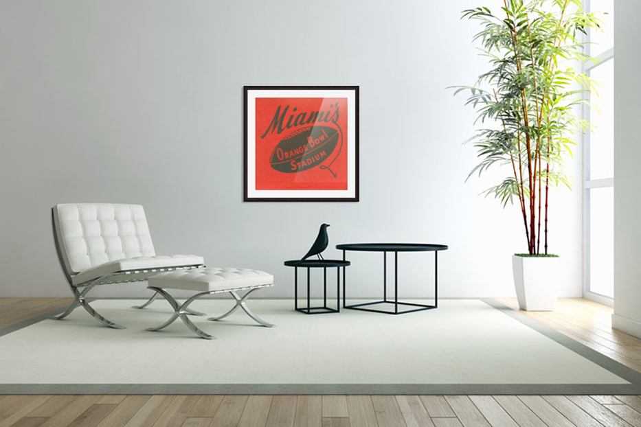 1950 Miami Orange Bowl in Custom Picture Frame