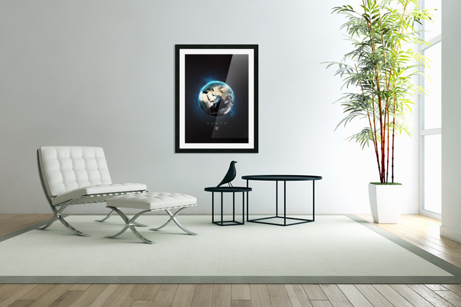 Destination Earth in Custom Picture Frame