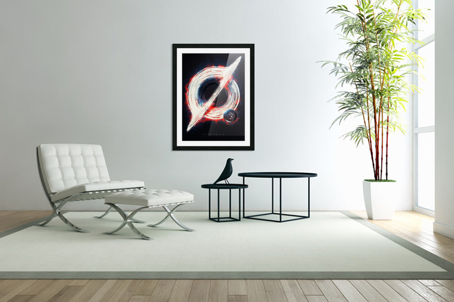 Black Hole in Custom Picture Frame
