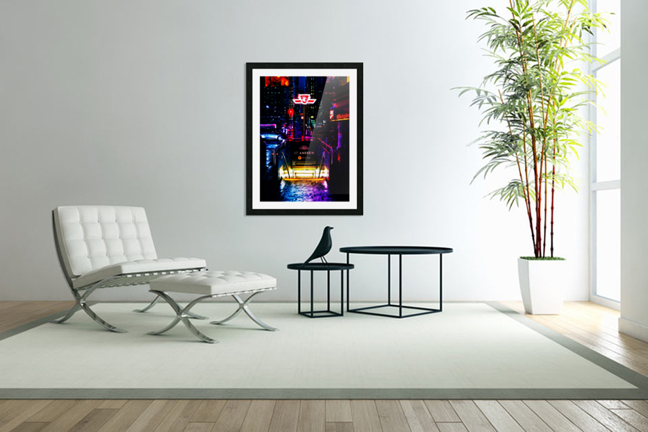 Neon City in Custom Picture Frame