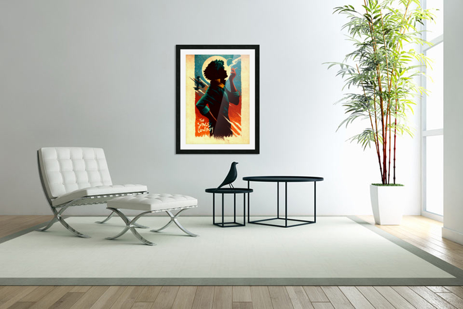 Spike COWBOY BEBOP in Custom Picture Frame