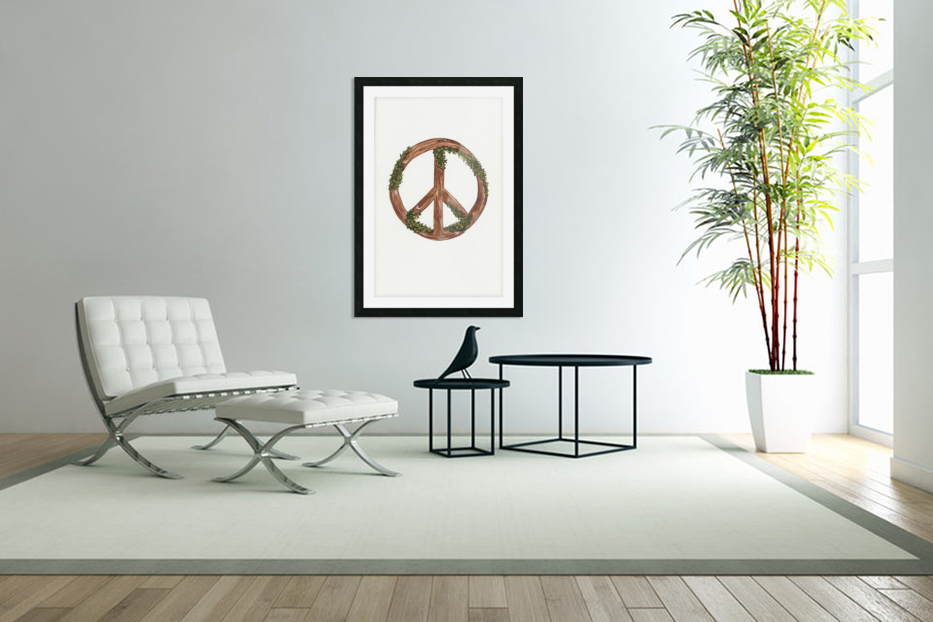 Peace Sign in Custom Picture Frame