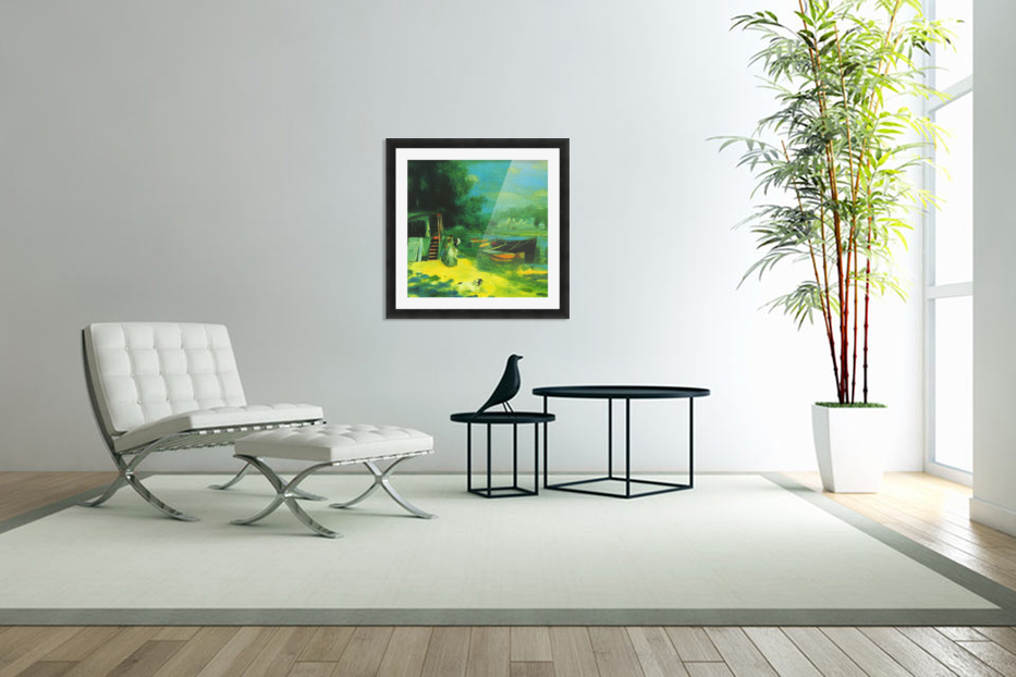 Place for Bading by Renoir in Custom Picture Frame