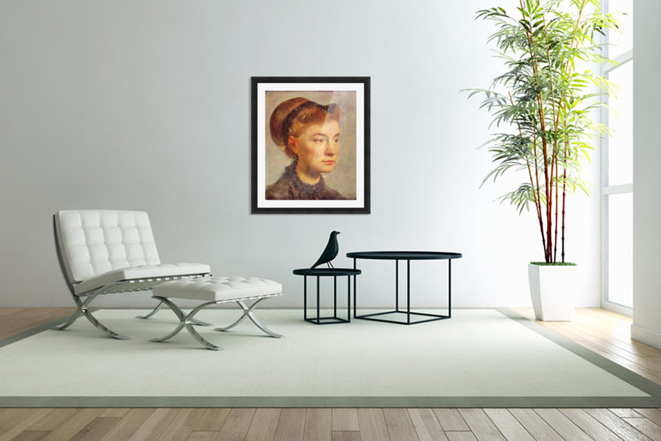 Portrait of a young Lady by Degas in Custom Picture Frame
