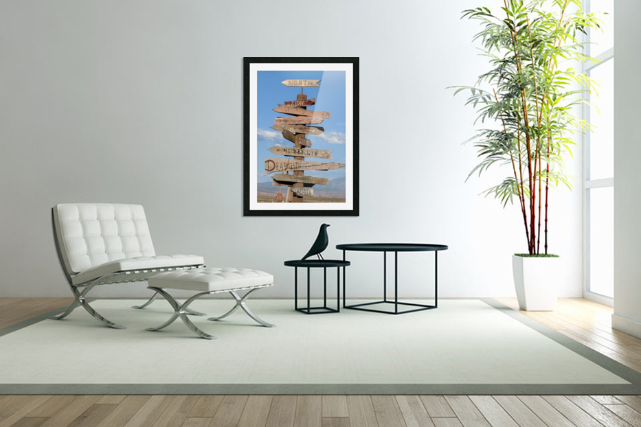 Crossroads at Moab in Custom Picture Frame