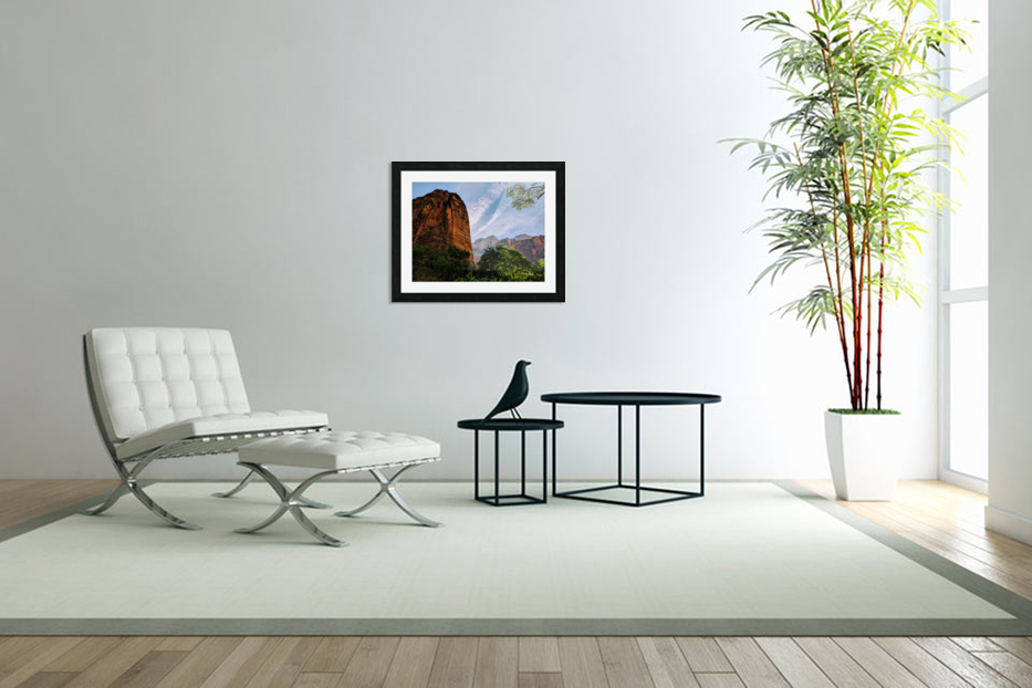 Zion Catching Rays in Custom Picture Frame