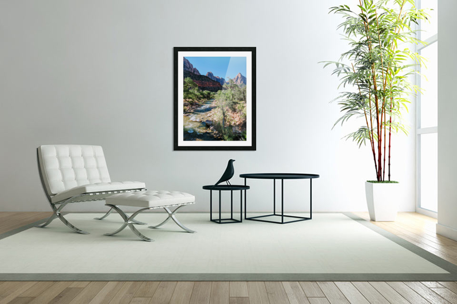 Zion in Morning Light in Custom Picture Frame