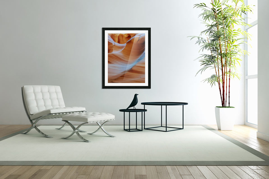 Ebb and Flow in Custom Picture Frame