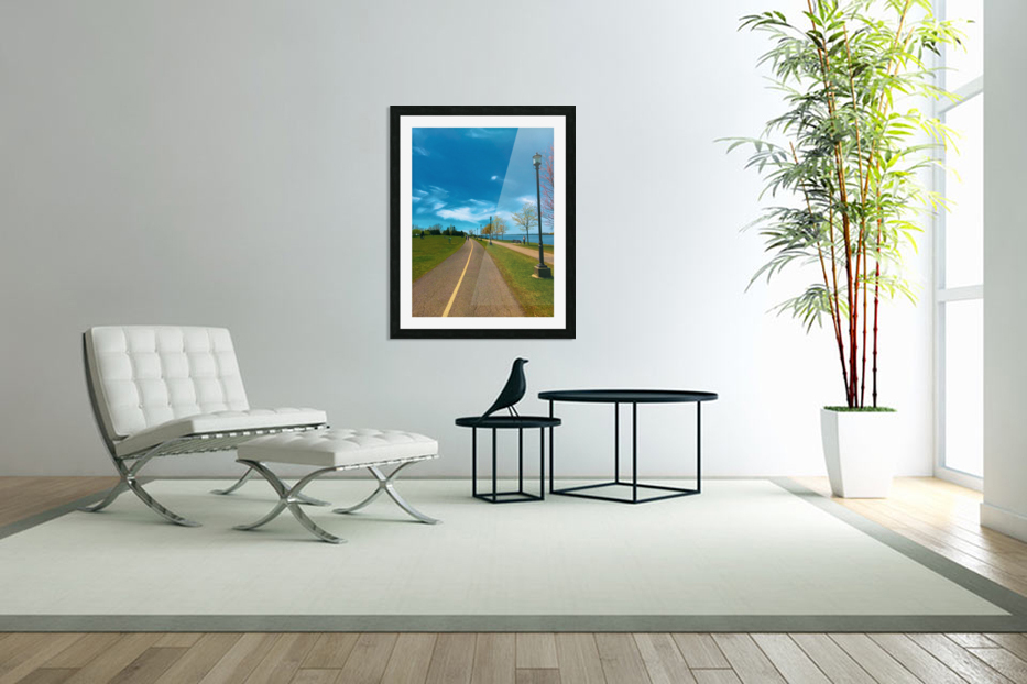 Cycling path in Custom Picture Frame