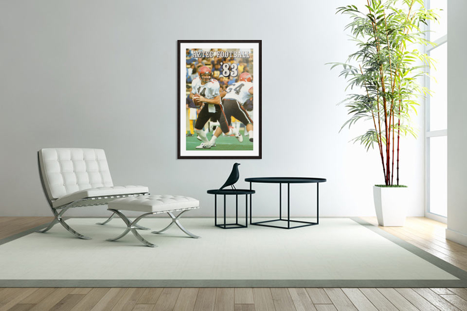 1983 San Diego State Aztecs in Custom Picture Frame