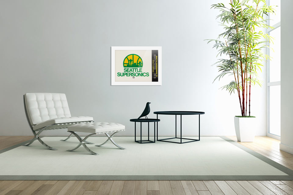 1979 Seattle Supersonics Fleer Decal in Custom Picture Frame