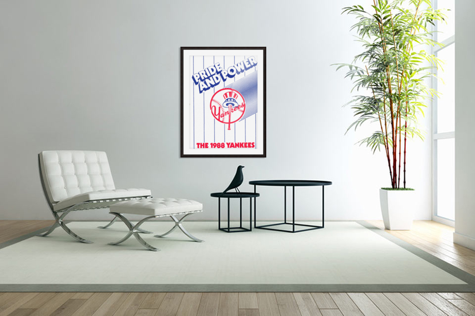 1988 New York Yankees Art in Custom Picture Frame