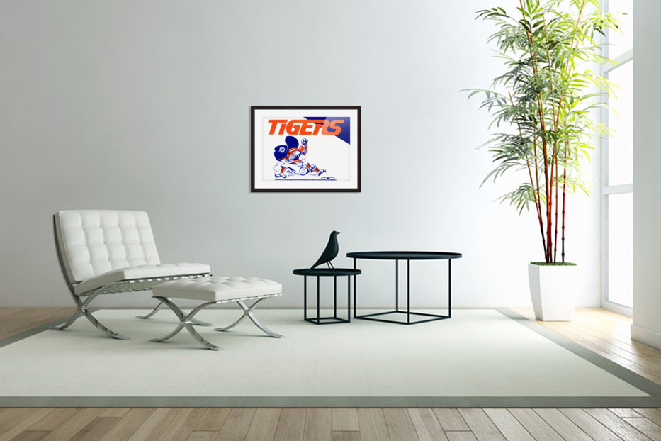 Tigers Cartoon in Custom Picture Frame