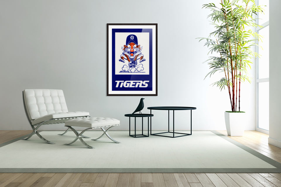 1972 Detroit Tigers Art in Custom Picture Frame