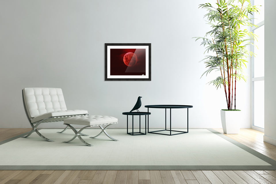One Red Moon in Custom Picture Frame