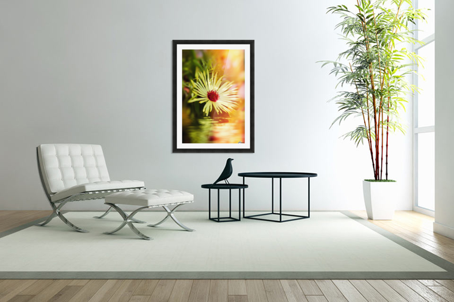 Sun worshippers yellow in Custom Picture Frame