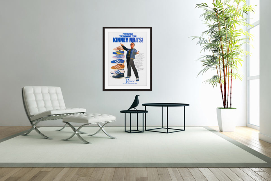 1979 Kinney NBA Shoes Ad in Custom Picture Frame
