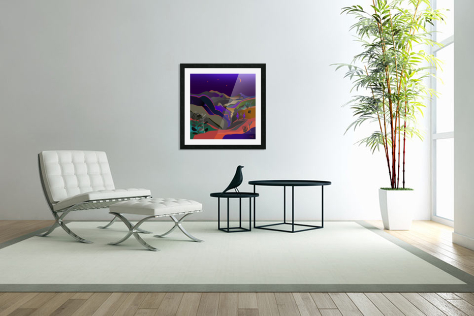Dreaming at Lookout Mountain in Custom Picture Frame