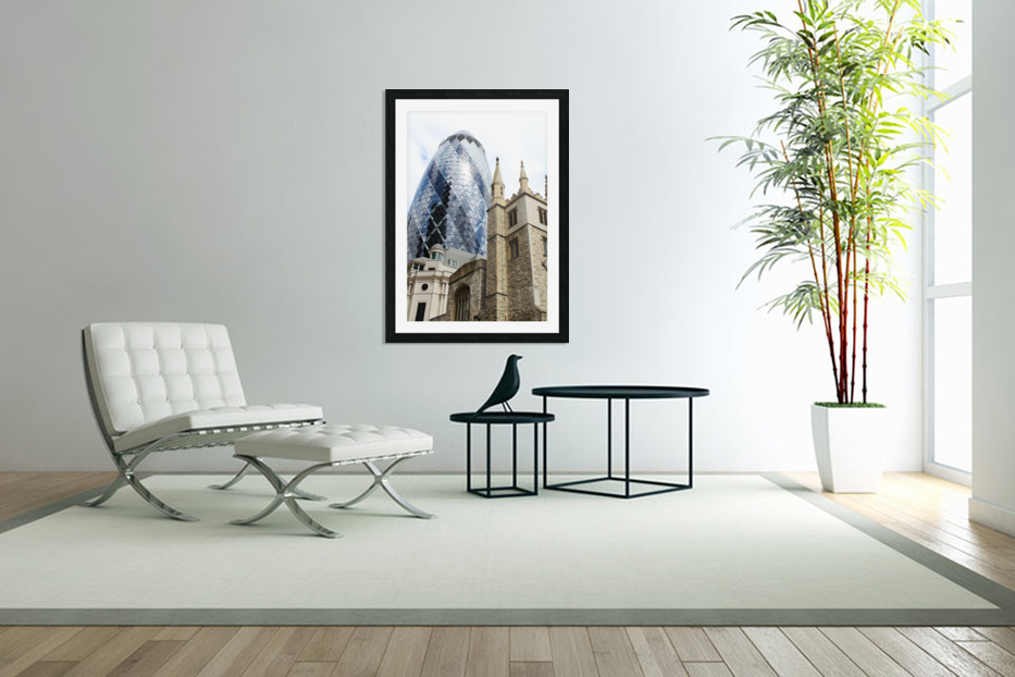 London old and new in Custom Picture Frame