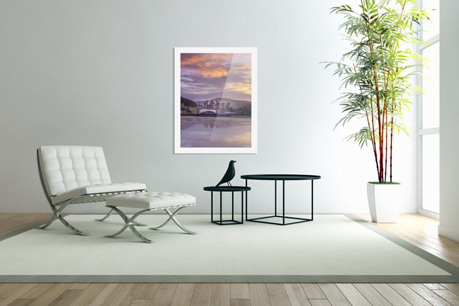 Conwy castle, North Wales coast in Custom Picture Frame