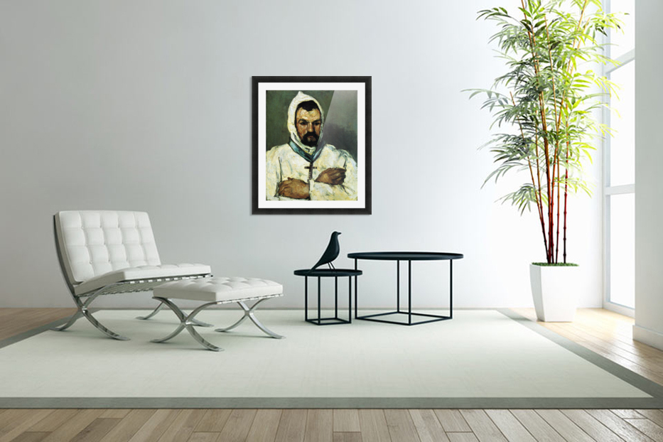 Portrait of Uncle Dominique as a monk by Cezanne in Custom Picture Frame