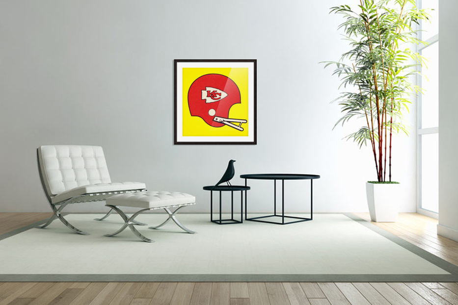 1982 Kansas City Chiefs Helmet Art in Custom Picture Frame