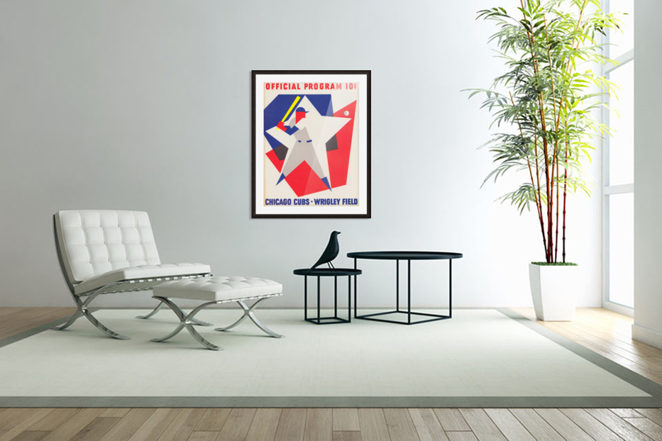 1964 Chicago Cubs Scorecard Wall Art in Custom Picture Frame