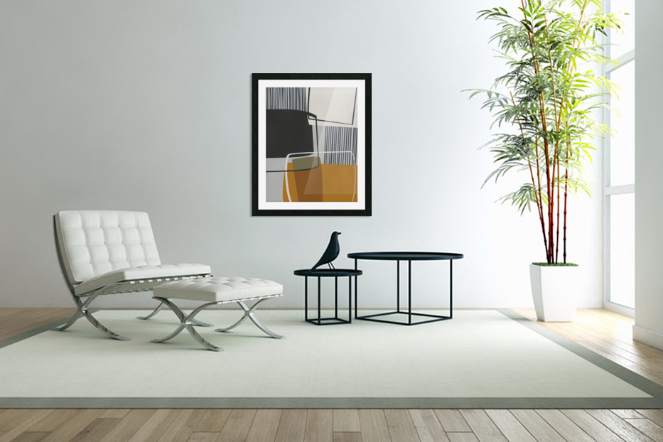Abstract Composition 1146 in Custom Picture Frame