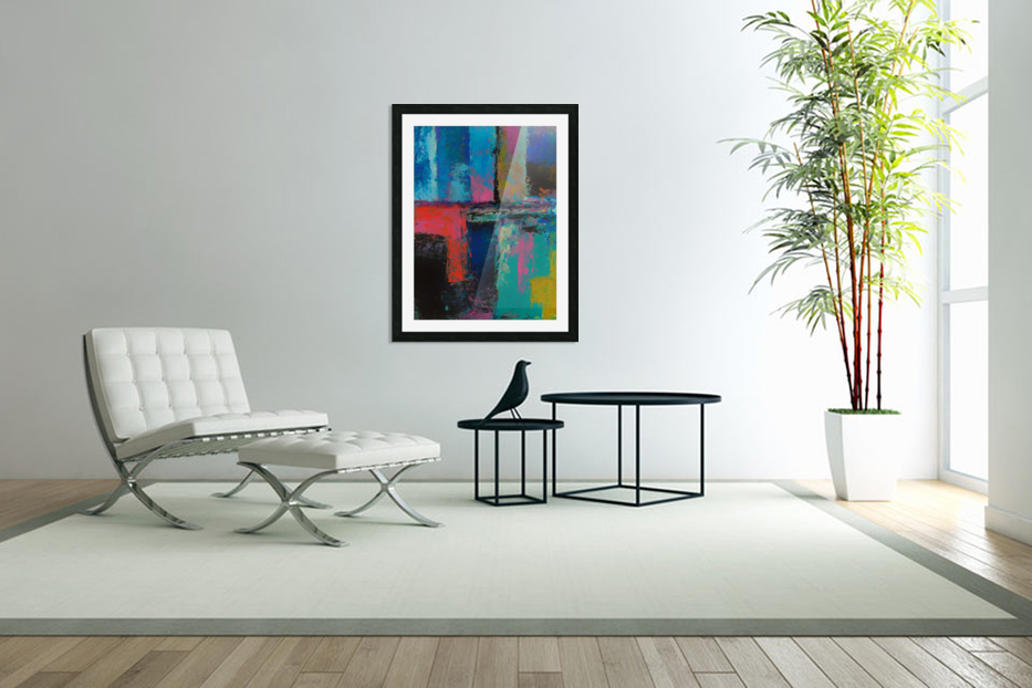 Abstract Composition 1141 in Custom Picture Frame