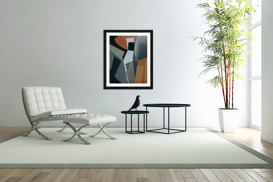 Abstract Composition 1132 in Custom Picture Frame