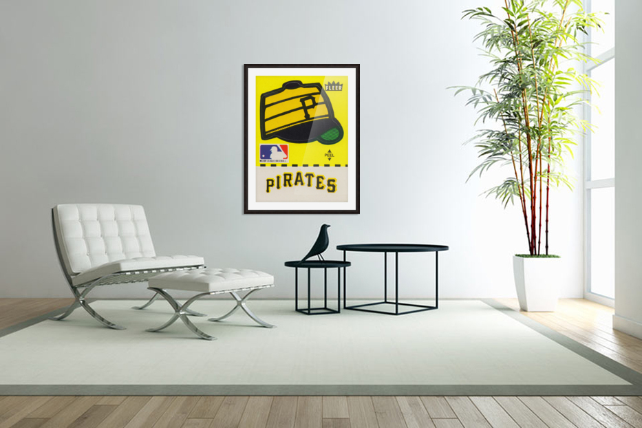 1981 Pittsburgh Pirate Fleer Decal Art in Custom Picture Frame