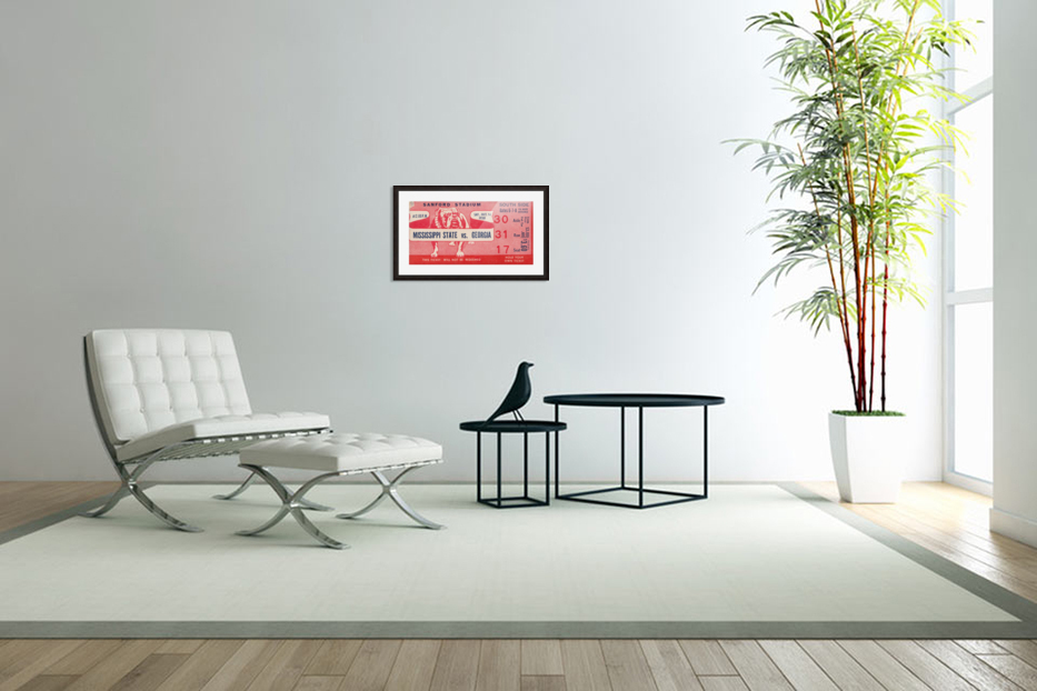 1950 Mississippi State vs. Georgia in Custom Picture Frame