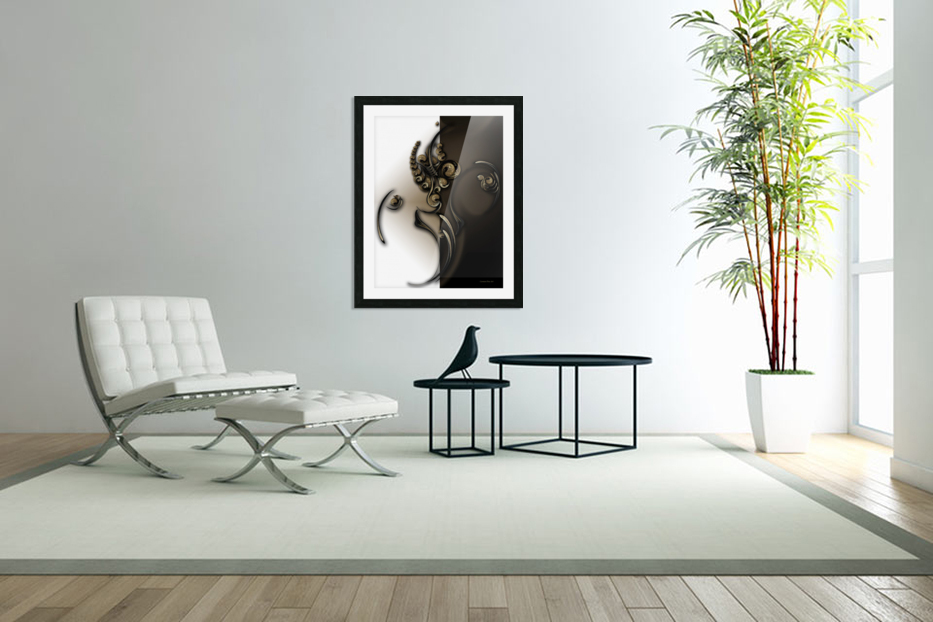 Sphere with Context in Custom Picture Frame