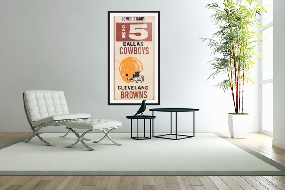 1969 Cleveland Browns vs. Dallas Cowboys in Custom Picture Frame