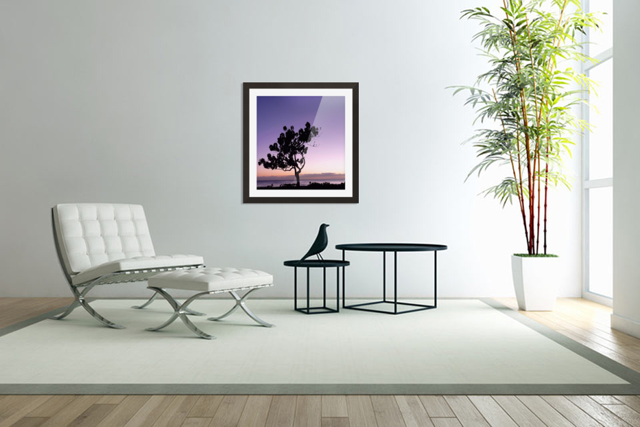 Silhouette in Custom Picture Frame