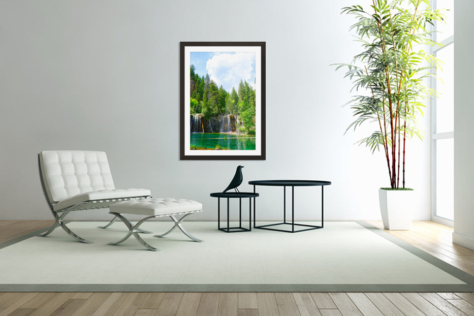 Back Country Waterfalls in Custom Picture Frame
