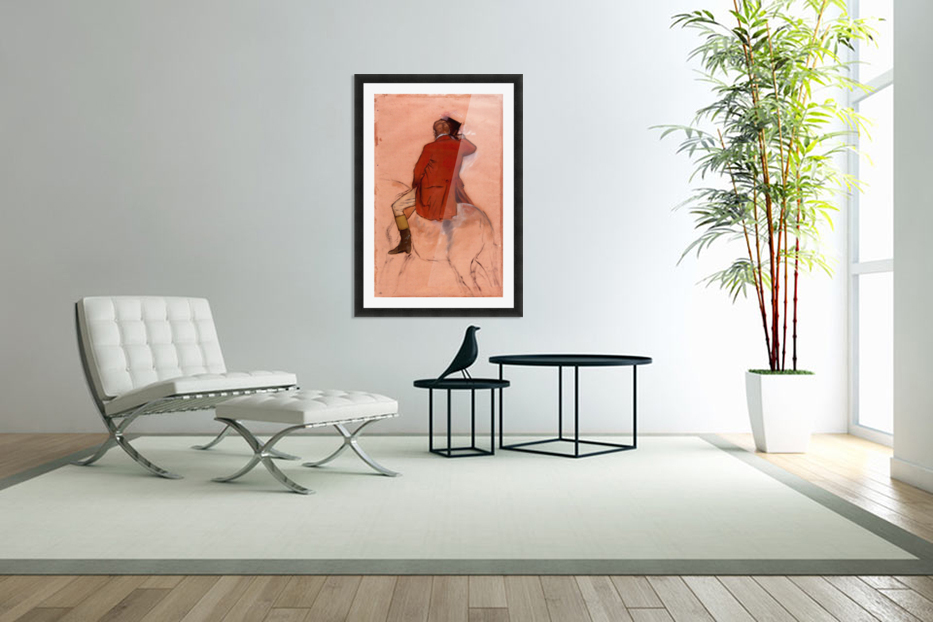 Rider with red jacket by Degas in Custom Picture Frame