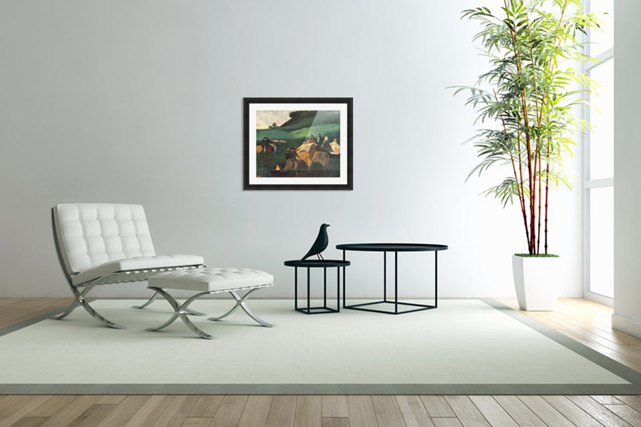 Riders in the  landscape by Degas in Custom Picture Frame