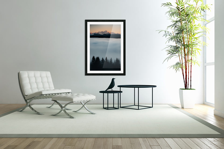 Mont Blanc and its sea of clouds in Custom Picture Frame