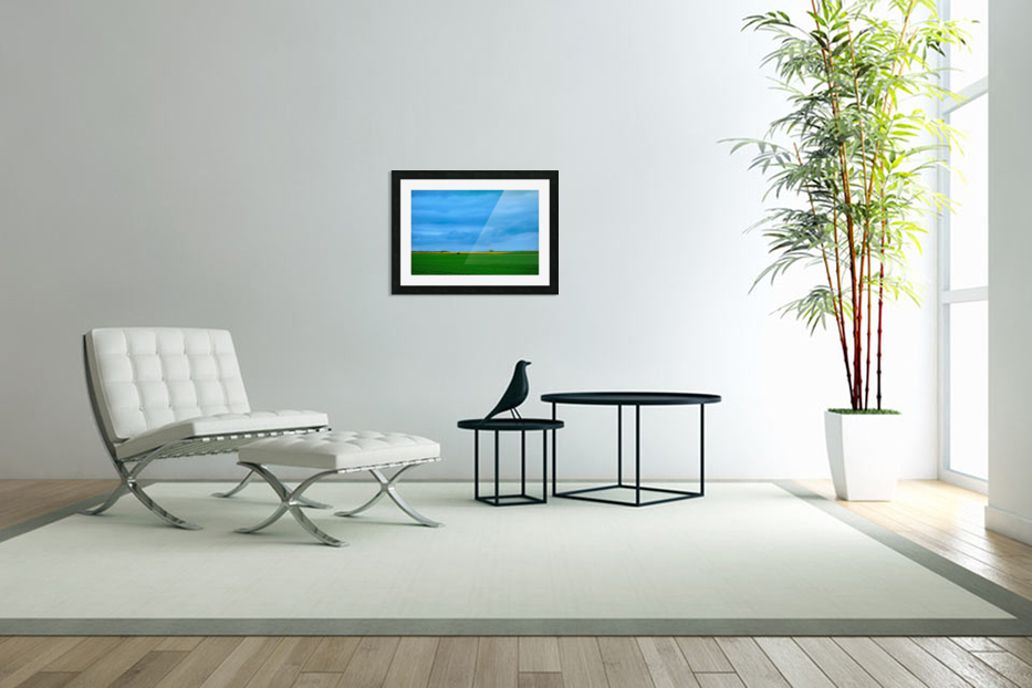Painted Fields - 2017 Gallery Artwork of the Year - Minimalism in Custom Picture Frame