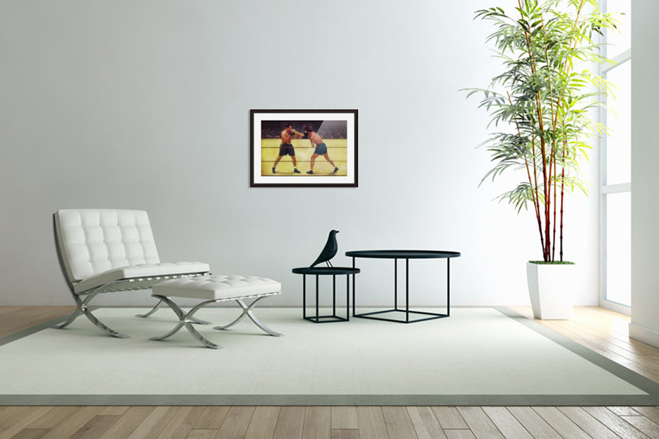 Vintage Boxing Art in Custom Picture Frame