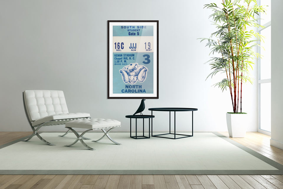 1978 North Carolina Student Ticket in Custom Picture Frame