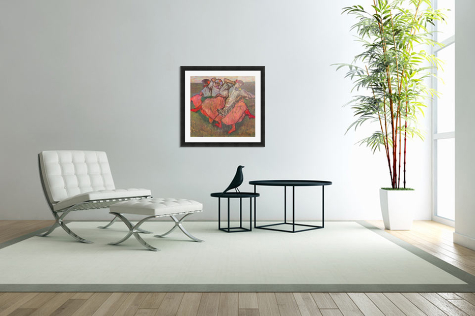 Russian Dancers by Degas in Custom Picture Frame