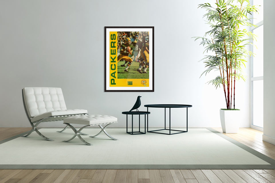 1966 Green Bay Packers Football Art in Custom Picture Frame