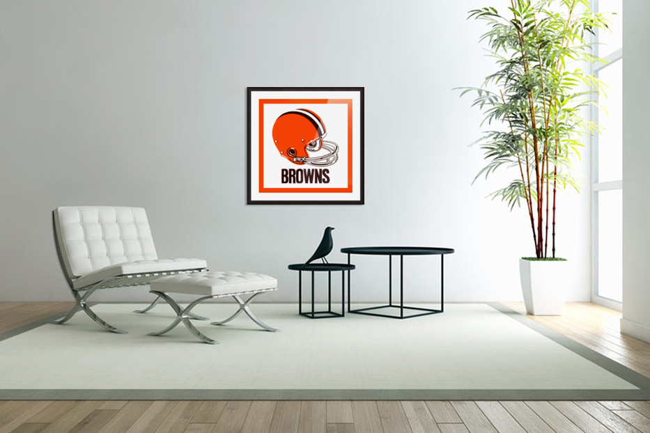 1971 Cleveland Browns Helmet in Custom Picture Frame