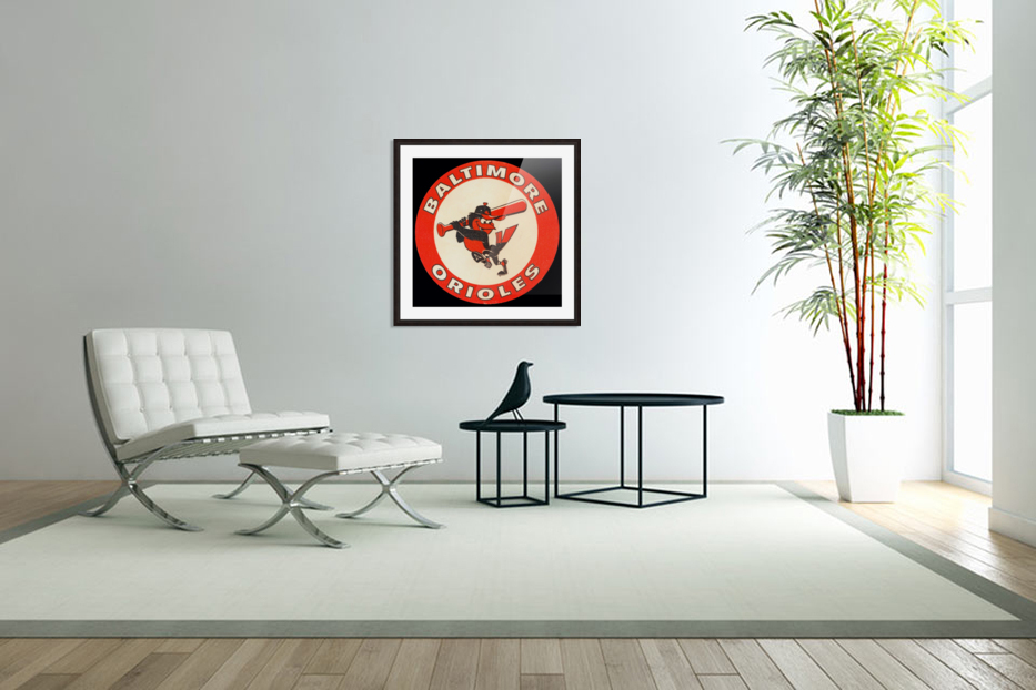 1960s Baltimore Orioles Art in Custom Picture Frame