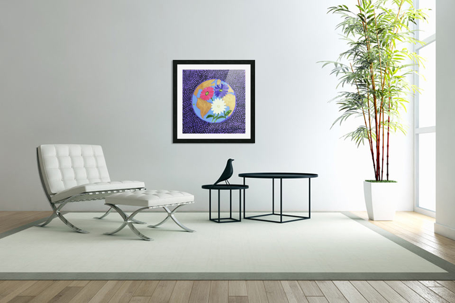 The Earth Daisy Husama Styl-Background in Custom Picture Frame