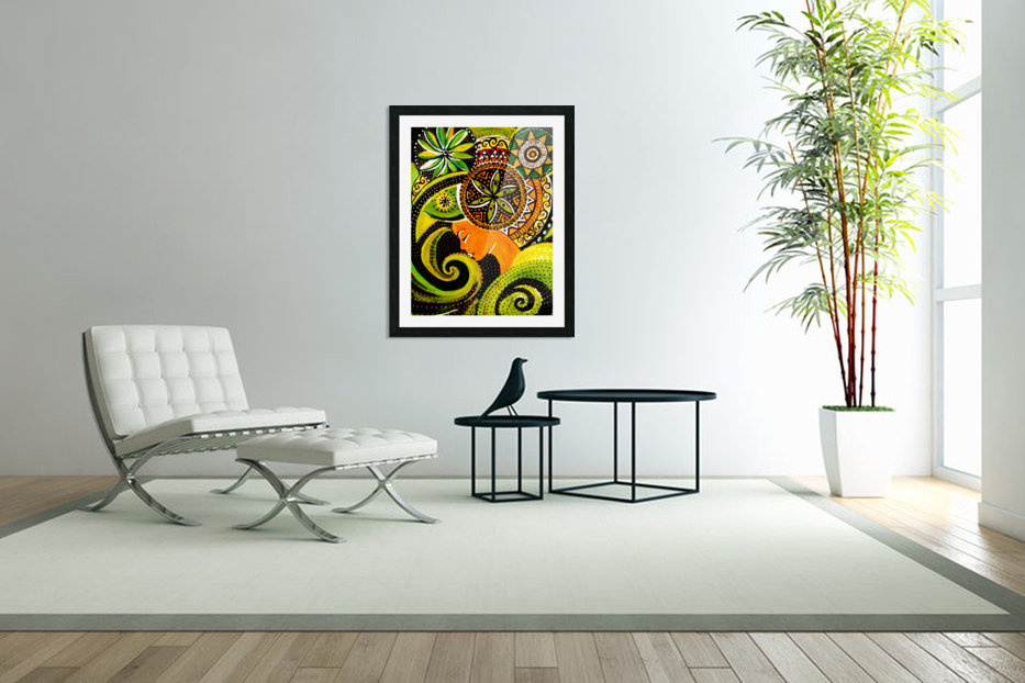 Pensee psyche   in Custom Picture Frame