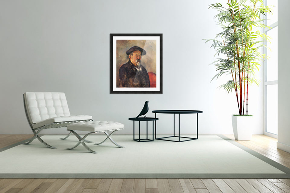 Self Portrait with Beret by Cezanne in Custom Picture Frame